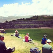 MIHS students sketching at Sacsayhuaman